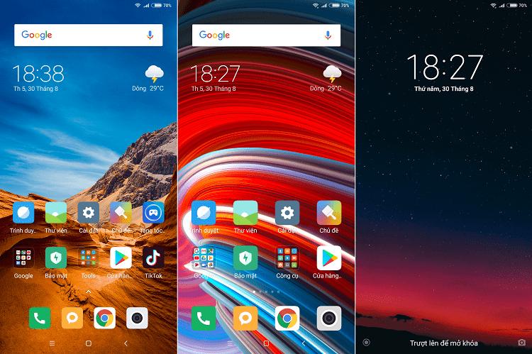 Một số hình nền của POCO F1 khi được đặt trên máy Xiaomi - ở đây mình thử với Redmi Note 5 cho kết quả chất lượng rất tốt, độ phân giải cao.