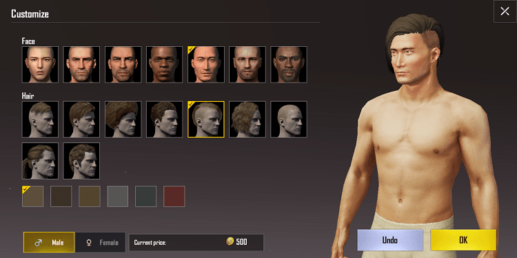 Hình ảnh optimized b9d5 của Cách thay đổi ngoại hình, khuôn mặt, tóc cho nhân vật PUBG Mobile tại HieuMobile
