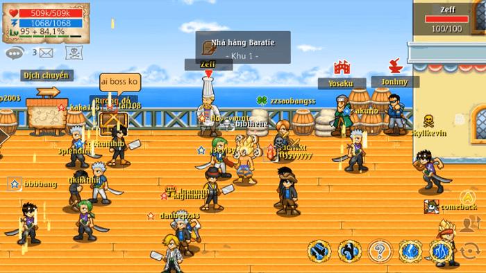 Chức năng Chúa Đảo giúp các Băng hải tặc cùng nhau giao tranh để chiếm đảo - ảnh minh họa