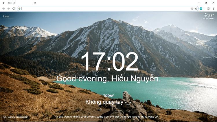 Hình ảnh optimized njhy của Biến new tab Chrome thành màn hình chờ nhắc công việc cực độc đáo tại HieuMobile