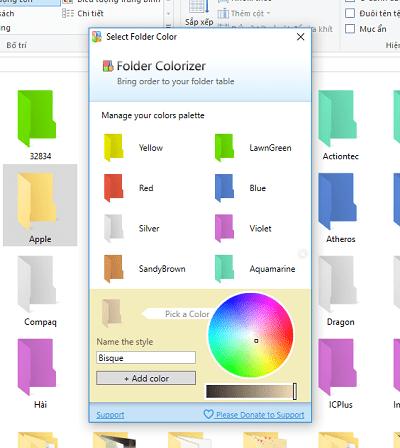 Hình ảnh optimized or6g của Tải Folder Colorizer: Phần mềm đổi màu thư mục cho máy tính tại HieuMobile