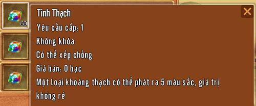 Hình ảnh vật phẩm Tinh Thạch trong game Làng Lá Phiêu Lưu Ký