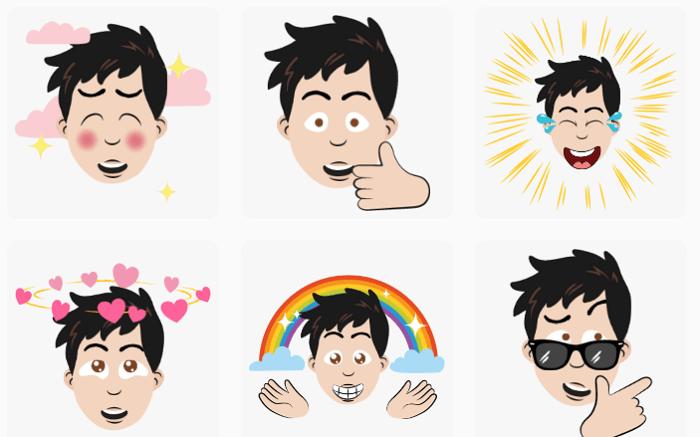 Một số emoji được tạo bằng tính năng Gboard Minis của bàn phím Google trên điện thoại