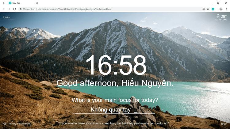 Hình ảnh optimized sgfi của Biến new tab Chrome thành màn hình chờ nhắc công việc cực độc đáo tại HieuMobile