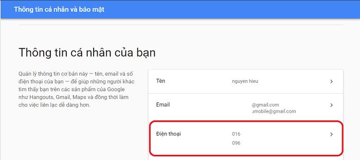 Hình ảnh optimized u0ka của Hướng dẫn đổi số điện thoại Gmail trên điện thoại và máy tính tại HieuMobile