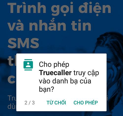 Sau khi cho phép truy vấn này, danh bạ của người dùng sẽ được upload lên máy chủ Truecaller rồi lưu trữ công khai tại đây