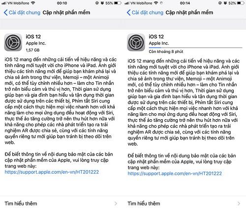 Hình ảnh iii 8 của Cách cài đặt và cập nhật iOS 12 chính thức cho mọi dòng iPhone, iPad nhanh nhất tại HieuMobile