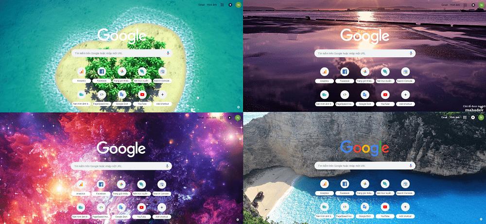 Giao diện và hình nền sẽ giúp Google Chrome trở nên mới lạ không còn bị thô cứng như thiết kế mặc định trước đây