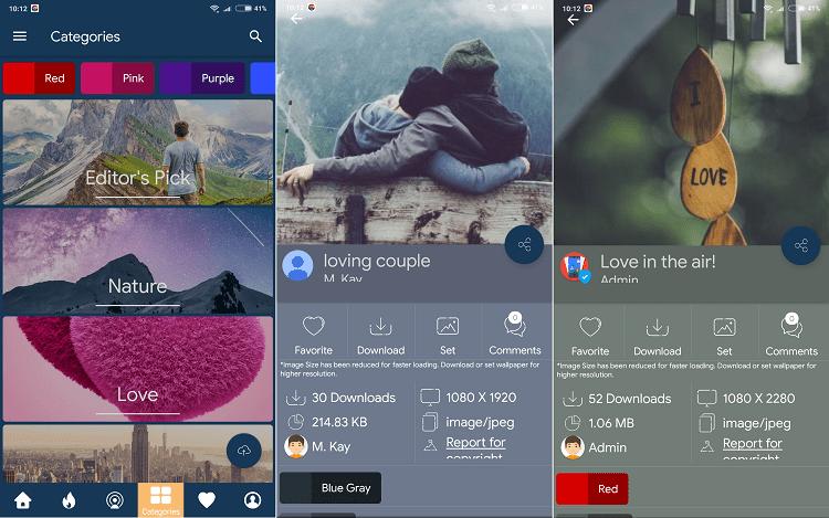 Hình ảnh optimized gwip của Tải Wallpaper Club: Kho hình nền Android tự thay đổi, không quảng cáo tại HieuMobile