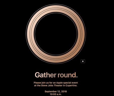 Thư mời của Apple khi tổ chức sự kiện ra mắt iOs 12 chính thức cùng với các sản phẩm mới trong tháng 09/2018