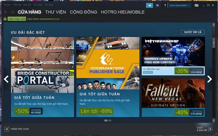 Hình ảnh optimized 2kgb của Sau 16 năm thì Steam đã có ngôn ngữ tiếng Việt và đây là cách thay đổi tại HieuMobile