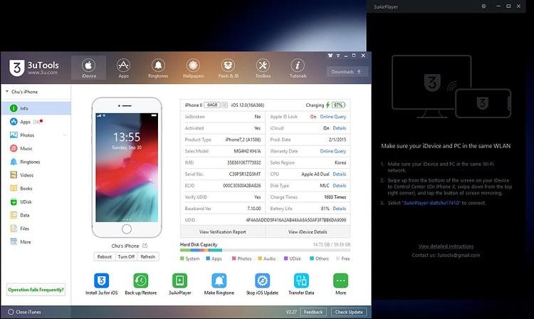 Hình ảnh optimized e5dd của Cách sử dụng 3uAirPlayer để phản chiếu màn hình iPhone lên máy tính tại HieuMobile