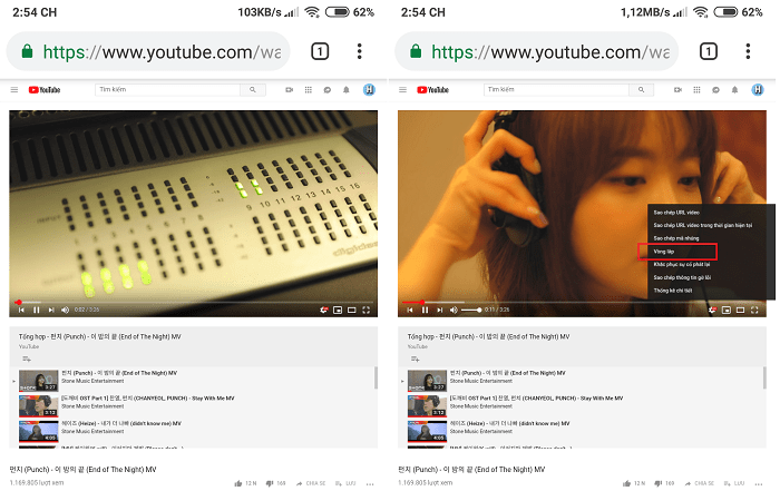 Hình ảnh optimized eot6 của Cách tự động lặp lại video đang xem trên Youtube nhiều lần tại HieuMobile