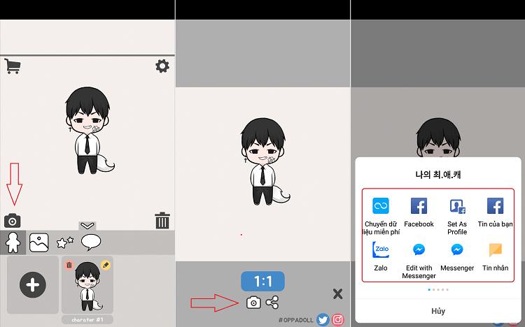 Hình ảnh optimized vorc của Tải Oppa doll - Unnie doll: Tạo ảnh nhân vật Chibi nam nữ cực đáng yêu tại HieuMobile