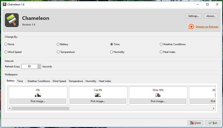 Hình ảnh nen 1 của Tải Chameleon: Đổi hình nền máy tính theo thời gian, lượng PIN, nhiệt độ... tại HieuMobile