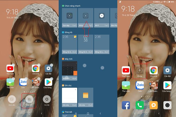 Hình ảnh optimized ddjx của Tạo lối tắt khóa màn hình điện thoại chỉ với 1 chạm không cần phần mềm tại HieuMobile