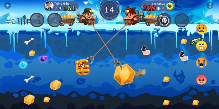 Hình ảnh về một màn chơi game mini trong ứng dụng Hago
