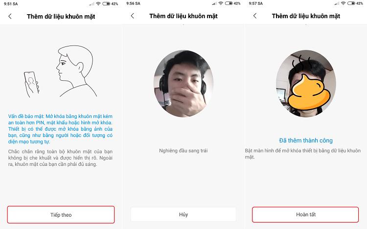 Hình ảnh optimized sevn của Thiết lập mở khóa màn hình bằng khuôn mặt cho máy Xiaomi tại HieuMobile