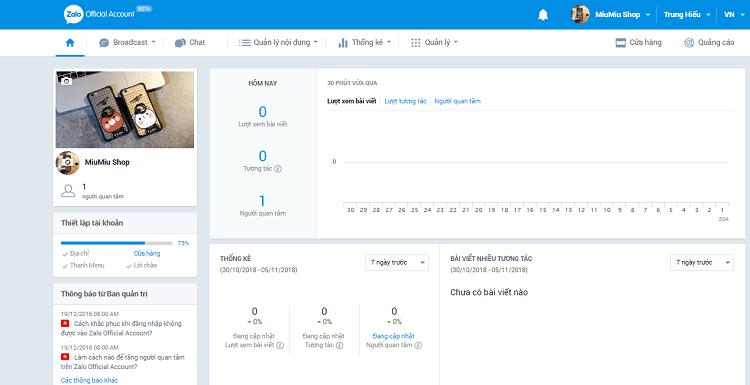 Hình ảnh optimized sywj của Hướng dẫn tạo Zalo Page để làm shop bán hàng online cực đơn giản tại HieuMobile