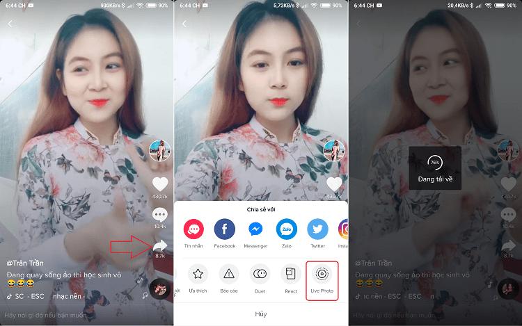 Hình ảnh optimized tyf6 của Hướng dẫn cài đặt video trên Tik Tok làm hình nền điện thoại độc đáo tại HieuMobile
