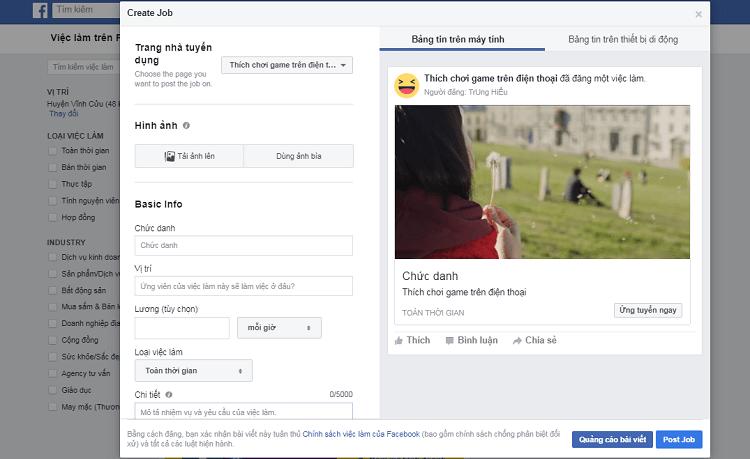 Hình ảnh optimized wwmr của Hướng dẫn đăng tin tuyển dụng và tìm việc làm phù hợp bằng Facebook tại HieuMobile