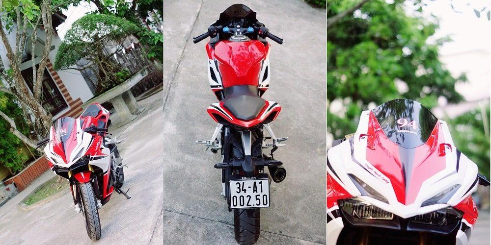 Hình ảnh optimized xyt7 1000x500 của Cận cảnh Honda CBR 250RR 2018 tem trắng đỏ ấn tượng như Ducati tại HieuMobile