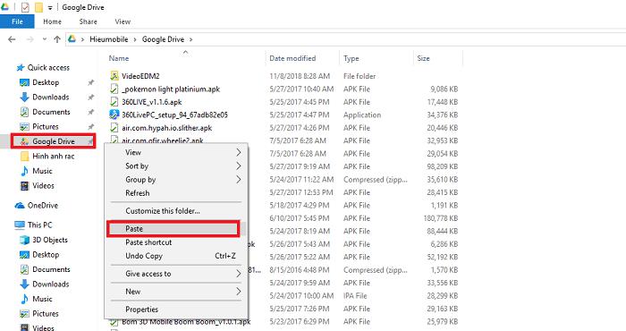 Hình ảnh optimized ydnp của Biến Google Drive thành một thư mục trên máy tính để sử dụng nhanh hơn tại HieuMobile