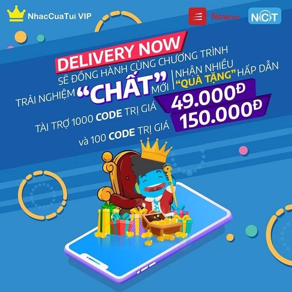 Một banner hoạt động tặng giftcode được NhacCuaTui tổ chức trên fanpage