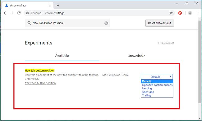 Hình ảnh optimized 2nmn của Cách thay đổi vị trí của nút tính năng mở tab mới (New Tab) cho Chrome tại HieuMobile