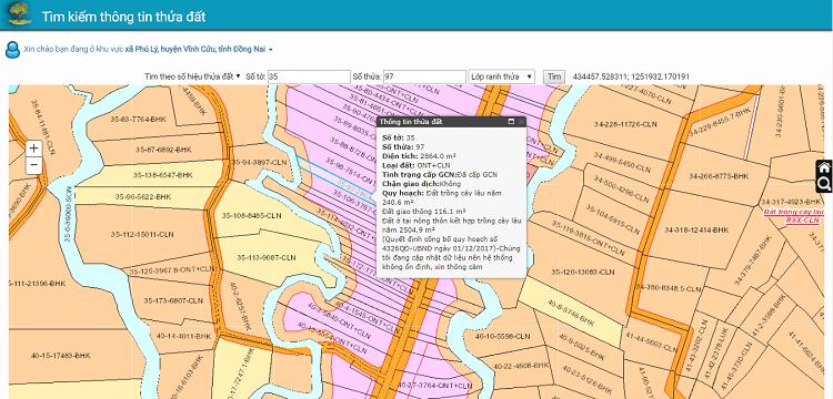 Hình ảnh optimized kmce của Cách tra cứu thông tin diện tích, tình trạng giao dịch đất đai ở Đồng Nai tại HieuMobile