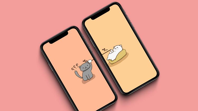 Hình ảnh optimized qaxv của Chia sẻ hình nền đôi mèo cực dễ thương dành cho những cặp đang yêu nhau tại HieuMobile