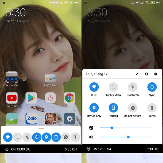 Hình ảnh optimized yae8 của Tải Bottom Quick Settings: Đưa các chức năng nhanh xuống dưới màn hình Android tại HieuMobile