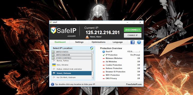 Hình ảnh optimized 2mgw của Tải SafeIP: Phần mềm Fake IP cho máy tính miễn phí và sử dụng đơn giản tại HieuMobile