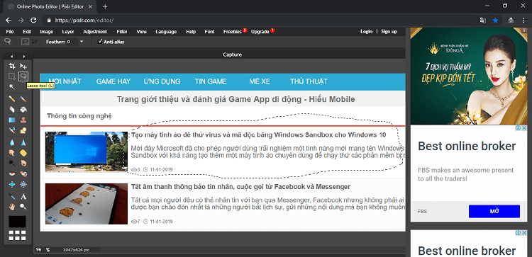 Hình ảnh optimized 3xku của Làm mờ đối tượng trên hình ảnh online không cần phần mềm bằng Pixlr tại HieuMobile