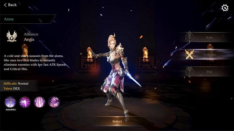 Nhân vật nữ với thanh kiếm trên tay