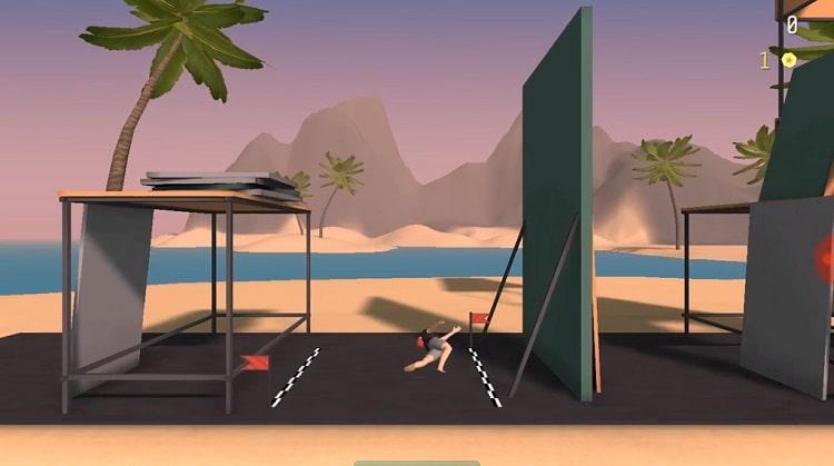 Một pha ngã sấp mặt trong game Flip Range