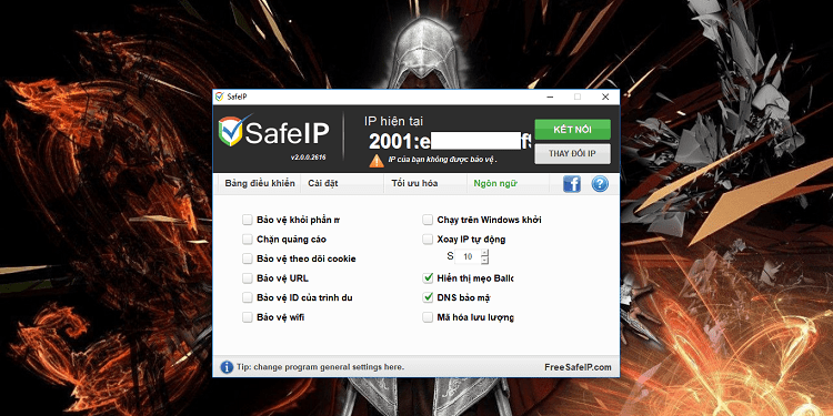 Hình ảnh optimized iiz4 của Tải SafeIP: Phần mềm Fake IP cho máy tính miễn phí và sử dụng đơn giản tại HieuMobile