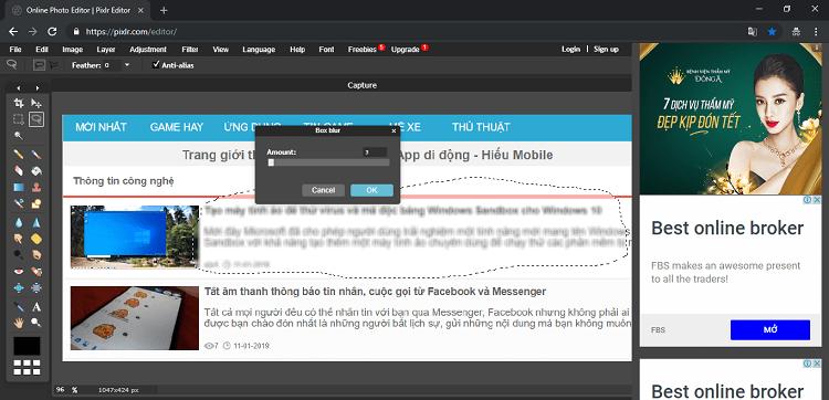 Hình ảnh optimized j19u của Làm mờ đối tượng trên hình ảnh online không cần phần mềm bằng Pixlr tại HieuMobile