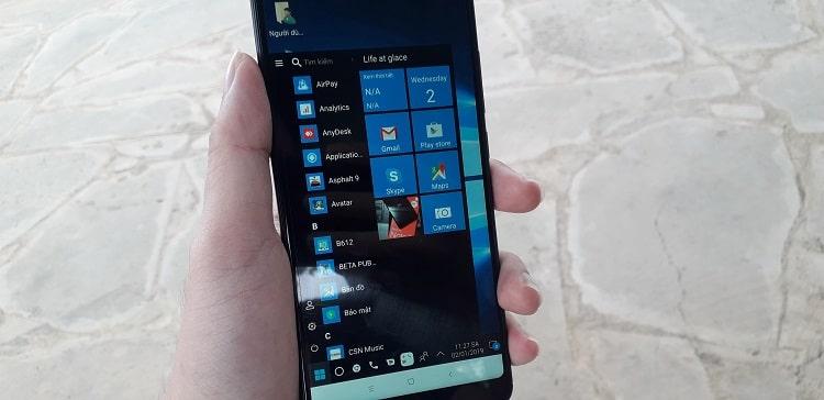 Hình ảnh optimized jopp của Cách đổi giao diện Android thành Windows 10 y chang, đầy đủ tính năng tại HieuMobile