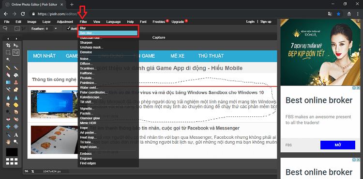Hình ảnh optimized jud2 của Làm mờ đối tượng trên hình ảnh online không cần phần mềm bằng Pixlr tại HieuMobile
