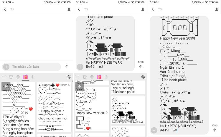 Hình ảnh optimized lpxe của Gửi lời chúc, tin nhắn xếp hình chào đón năm mới 2019 bằng Laban Key tại HieuMobile