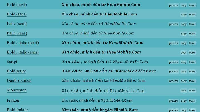 Hình ảnh optimized pko9 của Cách tạo font chữ lạ mắt khi đăng trạng thái, nhắn tin trên Facebook tại HieuMobile