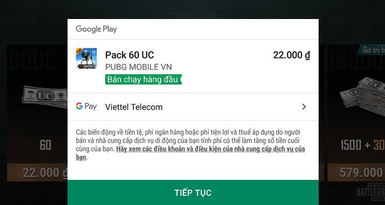 Hình ảnh optimized uxog của Bảng giá và các hình thức nạp UC vào game PUBG Mobile VN tại HieuMobile