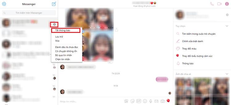 Hình ảnh optimized vewe của Tắt âm thanh thông báo tin nhắn, cuộc gọi từ Facebook và Messenger tại HieuMobile