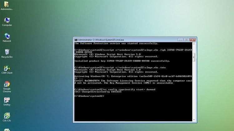 Hình ảnh optimized vi0w của Cách tự sửa lỗi mất bản quyền Windows 7 bởi sự cố kích hoạt KMS tại HieuMobile