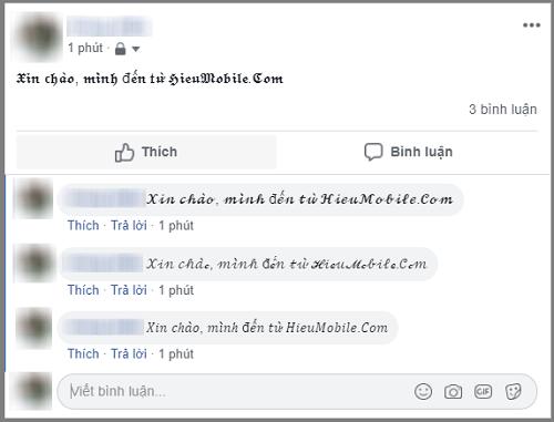 Hình ảnh optimized zlbt của Cách tạo font chữ lạ mắt khi đăng trạng thái, nhắn tin trên Facebook tại HieuMobile