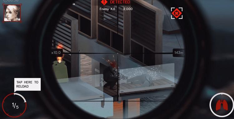 Những pha headshot cực đã tay trong game Hitman Sniper