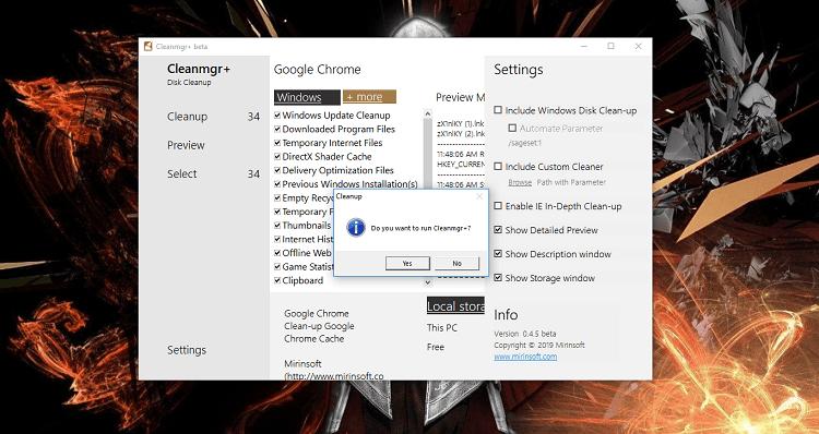 Hình ảnh optimized 5cql của Tải Cleanmgr +: Công cụ dọn dẹp rác máy tính thay thế Disk Cleanup tại HieuMobile