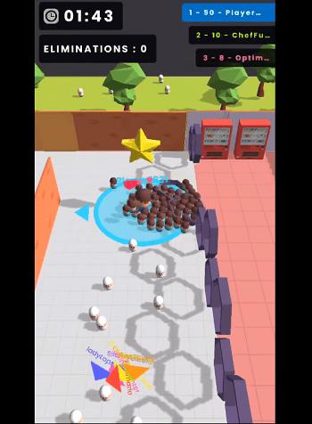 Điều đầu tiên khi vào game là phải kiếm thật nhiều con trắng để biến thành con của mình