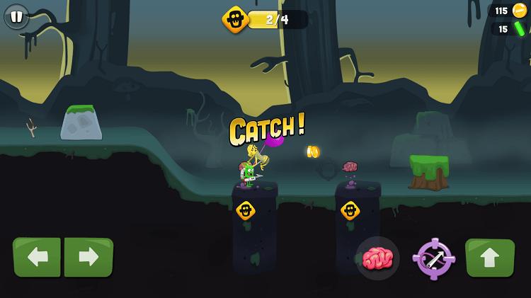 Khi zombie tiếp cận mồi nhử chúng ta sẽ dùng nỏ có mỏ neo để bắn bắt sống chúng và treo bằng một quả bóng